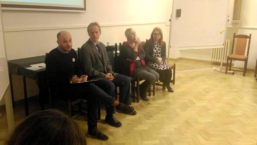 W dyskusji udział wzięli również eksperci (od lewej): mgr Jan Śpiewak, dr inż. Wojciech Bartoszczuk, dr hab. Barbara Szulczewska, mgr inż. Dominika Mucha