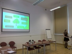 Anna Ciaś prezentuje funkcje zieleni w mieście