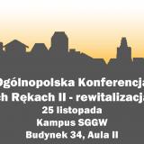 """Konferencja """"Miasto w Twoich Rękach II – rewitalizacja małych miast"""""""