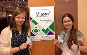 Magdalena Glica i Paulina Głąbikowska -  uczestniczki konferencji